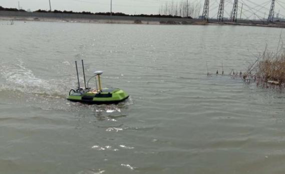 东营市勘察测绘院应用智能无人船测量技术服务山东省级重点项目